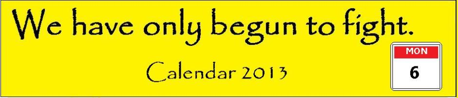 HEADER we have only begun CALENDAR 2013