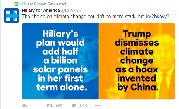 hillary climate change
